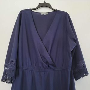 Almost Famous Navy Blue Dress Size 3X